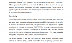 """MATRADE's Article - """"Colombian Oil & Gas Equipment and Services Market"""""""