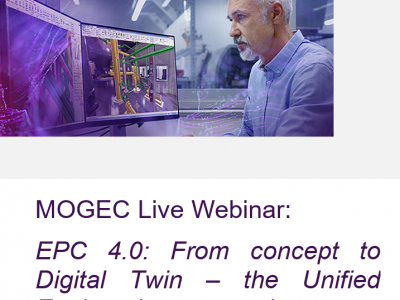 MOGEC Live Webinar:  EPC 4.0: From concept to Digital Twin – the Unified Engineering approach