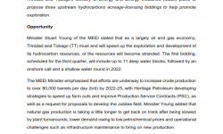 "MATRADE's Article - ""Trinidad and Tobago Preparing Three Upstream Competitive Biddings"""