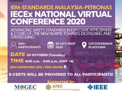 IECEX NATIONAL VIRTUAL CONFERENCE 2020 on 20TH OCTOBER 2020